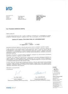 Prerušenie dodávky elektriny - list 2